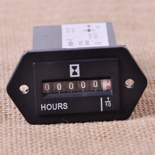 DC 10V-80V Generator Sealed Hour Meter Counter Truck Tractor Hourmeter Rectangle