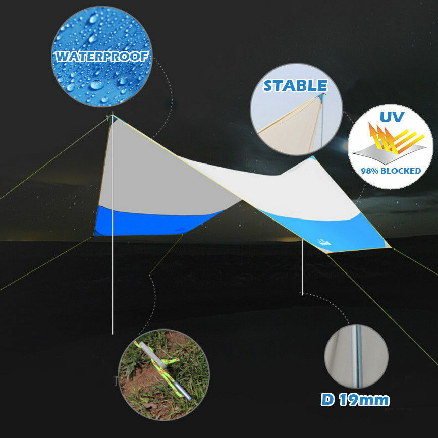 Portable Outdoor Picnic Camping Canopy UV50+ Sunshade Beach Tent Fishing Shelter
