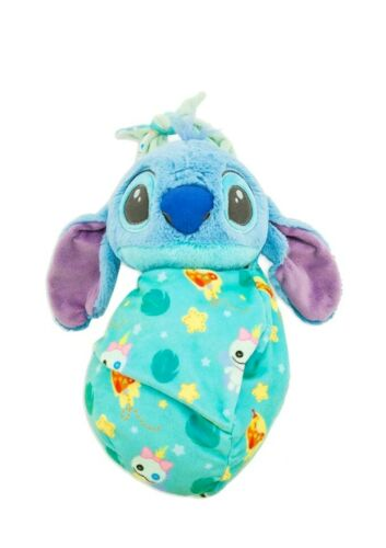 NEW NWT Disney Parks Lilo and Stitch Baby Stitch in a Blanket Pouch Plush