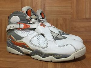 new concept 89a0e fd309 Image is loading RARE-Nike-Air-Jordan-VIII-8-Retro-White-