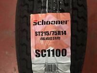 4 St 215/75r14 Radial Express 6 Ply Trailer Tires 75r14 R14 75r 215 75 14