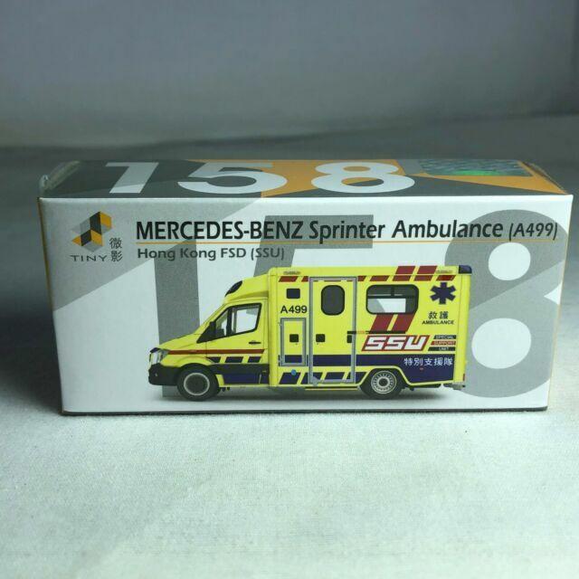 1//43 TINY Mercedes-Benz Sprinter Hong Kong FSD Ambulance SSU