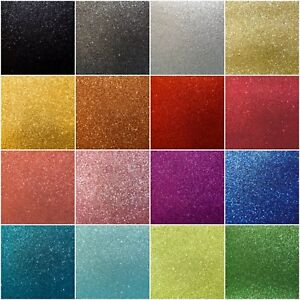 A4-Fine-Glitter-Fabric-Sheets-Cotton-Cloth-20-Sparkle-Metallic-Colours