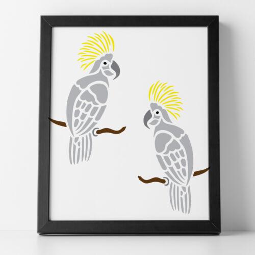 Tropical Bird Craft Template 10 x 18 cm CraftStar Cockatoo Stencil