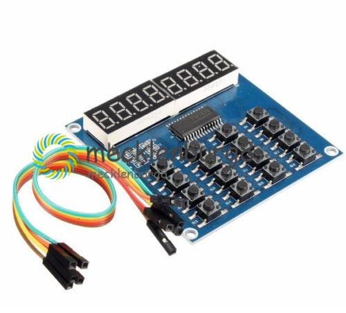 TM1638 8-digit common anode LED keyboard Tastatur scanning+display modul TM1638