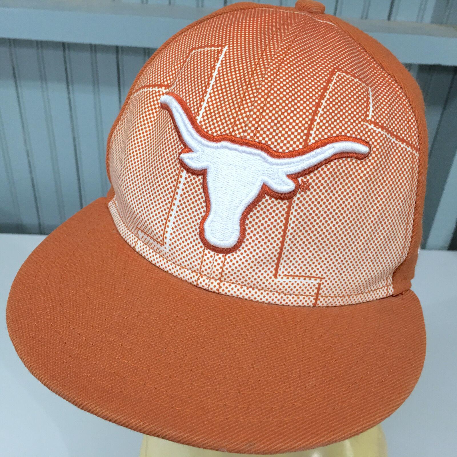 Texas Longhorns NCAA New Era Hat 7 1/8 Fitted Baseball Hat Era Cap 98cd80