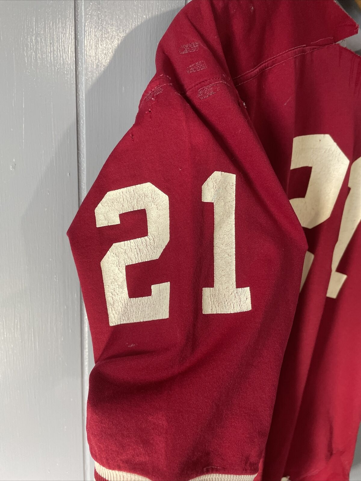 VTG 70's Russell Athletic Red Football Jersey #21… - image 6
