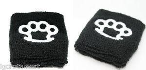 Pair-Sport-Cotton-Sweat-Band-Sweatband-Wristband-Wrist-Band-UK