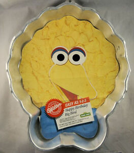 Image Is Loading Big Bird Happy Birthday Cake Pan From Wilton