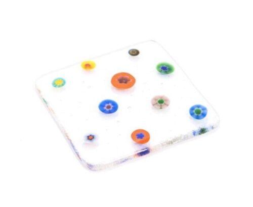 Faire deux Fused Glass Coasters Kit Bullseye Coe90 limons Fritte Confettis Fusion