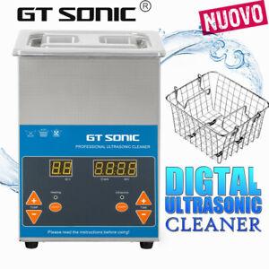 GT-Sonic-2L-Pulitore-ad-Ultrasuoni-Pulizia-Dispositivo-Pulitore-con-Cesto-Tank