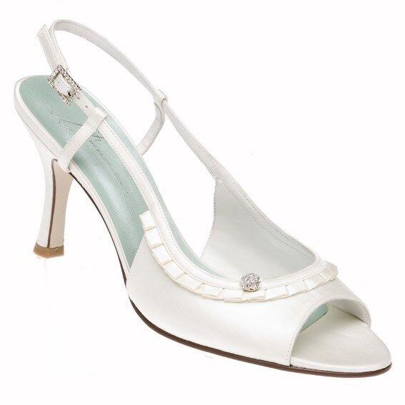 New Ivory Slingbacks - Formal Bridal Prom -
