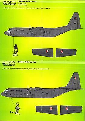 Model Maker Decals 1/72 LOCKHEED C-130 HERCULES IN POLISH SERVICE