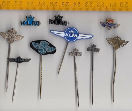 Vintage KLM Airlines Logo pin badge Royal Dutch Aircraft Airplane