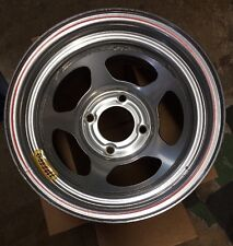 NOS Bassett 13x7 Pony/Mini Stock/Legend Racing Wheel 4 on 4.5 Silver 3 BS