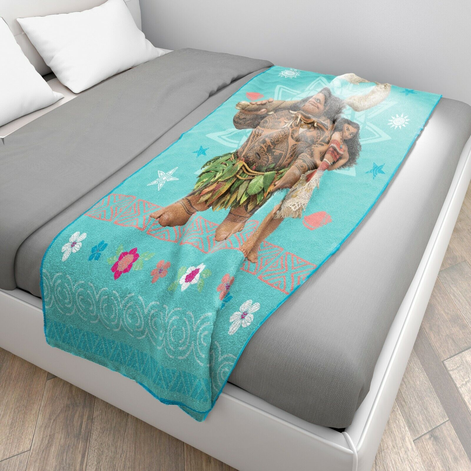 "Jay Franc 60/""x46/"" Disney Moana Raschel Fleece Plush Throw Micro Winter Blanket"