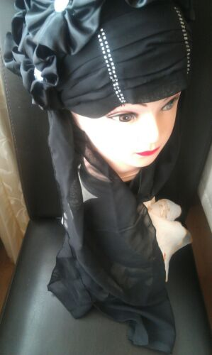 Wedding Hat chemo cancer Head wear cover scarf Islamic high quality RRP £14.99