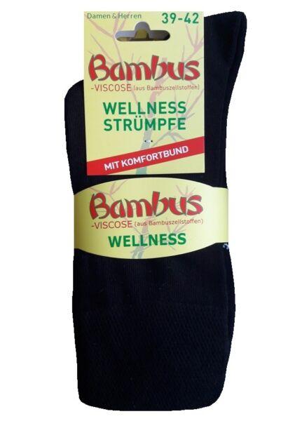 Hochelastische Bambus Socken ohne Gummidruck soft + druckfreie Diabetikersocken