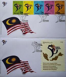 Malaysia FDC with MS & Stamps (18.08.2020) - 50 Years Rukun Negara