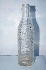 Vintage Orange Crush soda bottle clear ribbed cracked bottom pat July 29 1920