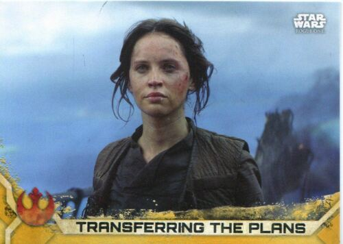 Star Wars Rogue One Series 2 Gold Base Card #93 Transferring the Plans