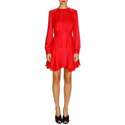 NEW Cooper St Hepburn Long Sleeve Mini Dress Red