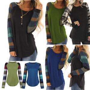 Fashion-Women-Stripe-Casual-Top-T-Shirt-Ladies-Loose-Long-Sleeve-Top-Blouse-Hot