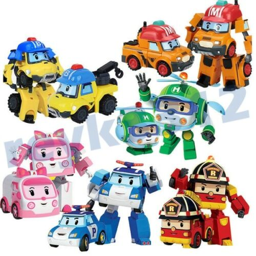 Robot Robocar Poli Roy Amber Transformer Car Movie Action Figure Toy Gift