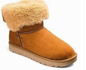moderate cost special price for elegant shoes Details about JD Williams Gisele Womens UK 6 EEE Wide Fit Chestnut Brown  Fur Lined Boots