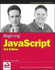 Beginning JavaScript, 3rd Edition (Programmer to Programmer) Wilton, Paul, McPe