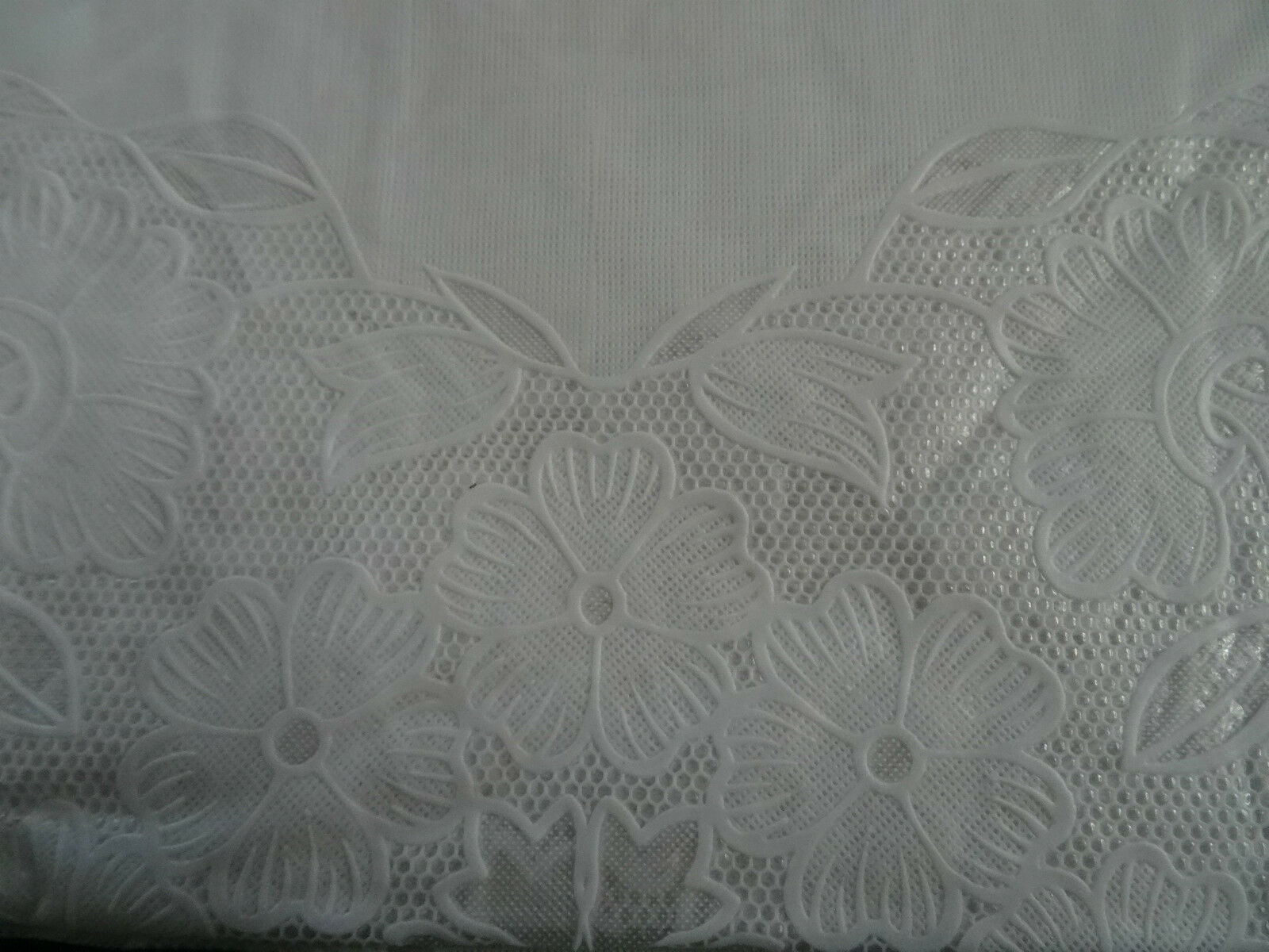 150x260 Cm White Rectangular Tablecloth Vinyl Tablecloth