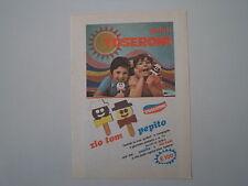 advertising Pubblicità 1974 GELATI TOSERONI ZIO TOM/PEPITO