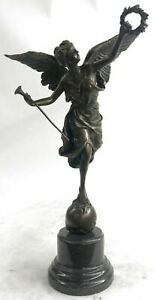 Winged-Victory-Athena-Nike-Paris-Louvre-15-034-Bronze-Marble-Statue-Sculpture-Gift