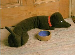 Image Is Loading Knitting Pattern Dachshund Sausage Dog Door Draught Excluder