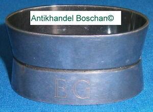 Silber, 800er- 925er Hilfreich Serviettenring 800 Silber Mit Monogramm Eg Bremer Silberwarenfabrik Bsf