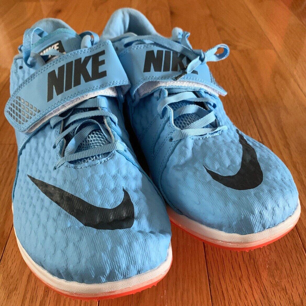 Nike Size 11.5 High Jump Zoom HJ Elite Football bluee Crimson 806561-446