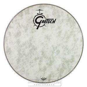 Gretsch-Bass-Drum-Head-Fiberskyn-22-With-Logo-GRDHFS22