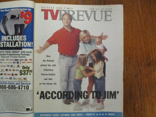 Fe-2002 Chicago TV Prevue Mag(ACCORDING TO JIM/COURTNEY THORNE-SMITH/JIM BELUSHI