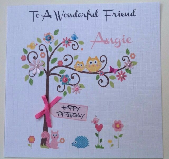 Personalised Handmade Birthday Card Mum Gran Special Friend Wife