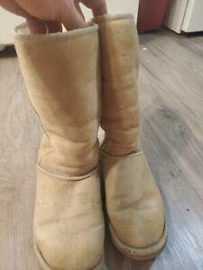 Refinamiento Injusticia septiembre  Botas Ugg! oferta! Botas de piel de oveja Clásico Alto Marrón Castaño  Tamaño W: 8 | eBay