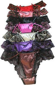 special sales fashion styles shoes for cheap Détails sur Choix de 7 couleurs belle femme sexy culottes slips string en  satin et dentelle 8-10- afficher le titre d'origine