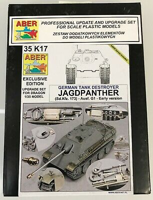 1//35  SdKfz173 Jagdpanther early version details super set for Dragon