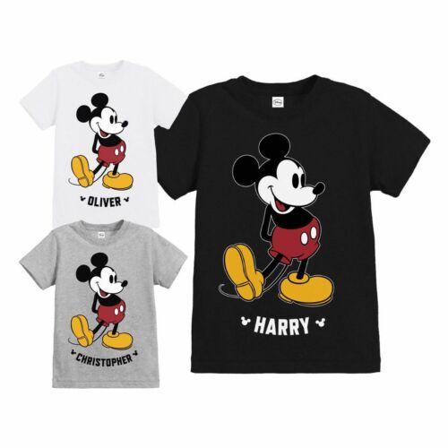 Official Disney Mickey Mouse Classic Kick Childs Personalised T-Shirt