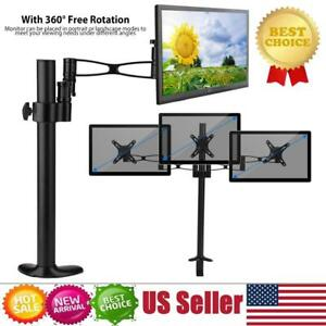 Adjustable-Computer-LCD-Screen-Monitor-Mount-Stand-Holder-Rack-360-Rotatable-US