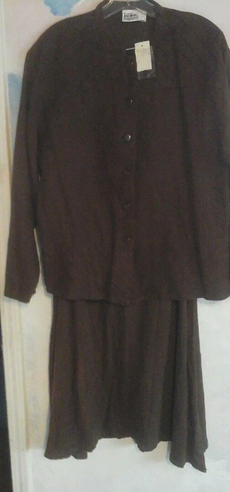 Kiko 2 Piece Suit In 100% Linen In Dark Brown, OS