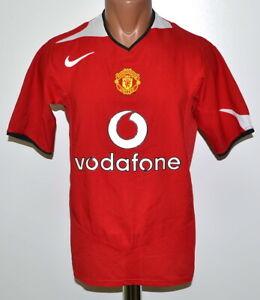 Manchester United 2004/2006 Calcio Casa maglietta jersey Nike Taglia S adulto