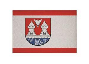 Aufnäher Litauen mit Wappen Fahne Flagge Aufbügler Patch 9 x 6 cm