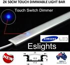 2X 50CM TOUCH CONTROL ON OFF DIMMABLE LED STRIP LIGHT BAR KITCHEN CARAVAN AWNING