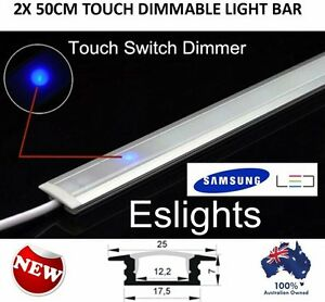 2x 50cm touch control on off dimmable led strip light bar 240v kit image is loading 2x 50cm touch control on off dimmable led aloadofball Image collections