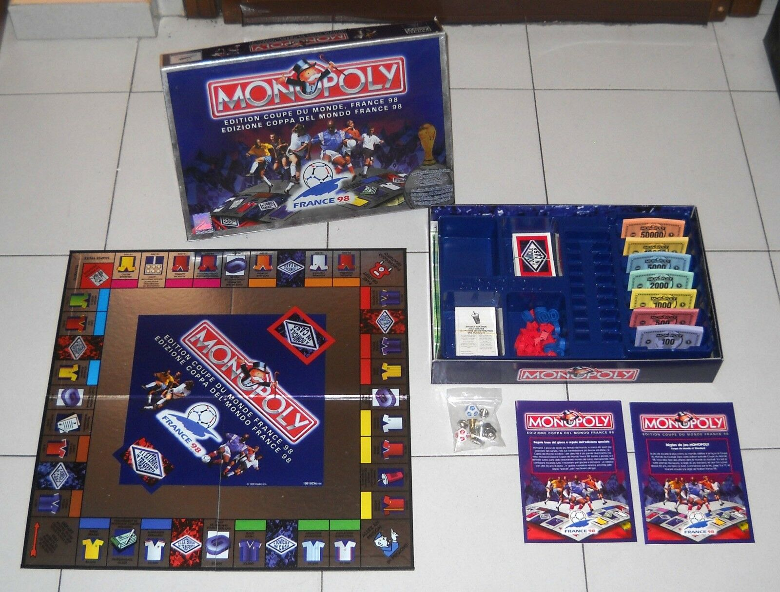 MONOPOLY FRANCE 98 edition World cup 1998 Monopoli Fifa World cup